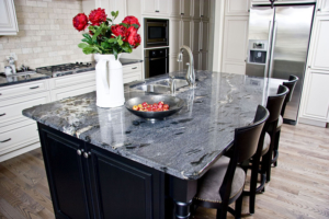 Black Granite Island Countertop