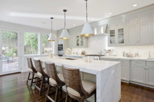 White Marble Waterfall Countertop