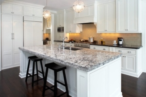Quartz Island Countertop with Barstools